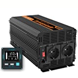 EDECOA Inverter Onda Pura 1500w Invertitore di Potenza 12v 220v/ 230 Trasformatore di Tensione Onda Pura 2X USB…