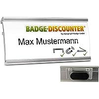 5 Badges porte-nom a personnaliser NMSG badge identité aimanté personnalisable clip, épingle, aimant double 3 fixations…
