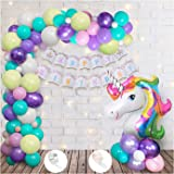 Party Propz Unicorn Theme Birthday Decorations Items with Led Lights- 65Pcs for Kids Girls Or Boys Bday Decor/Includes led Li