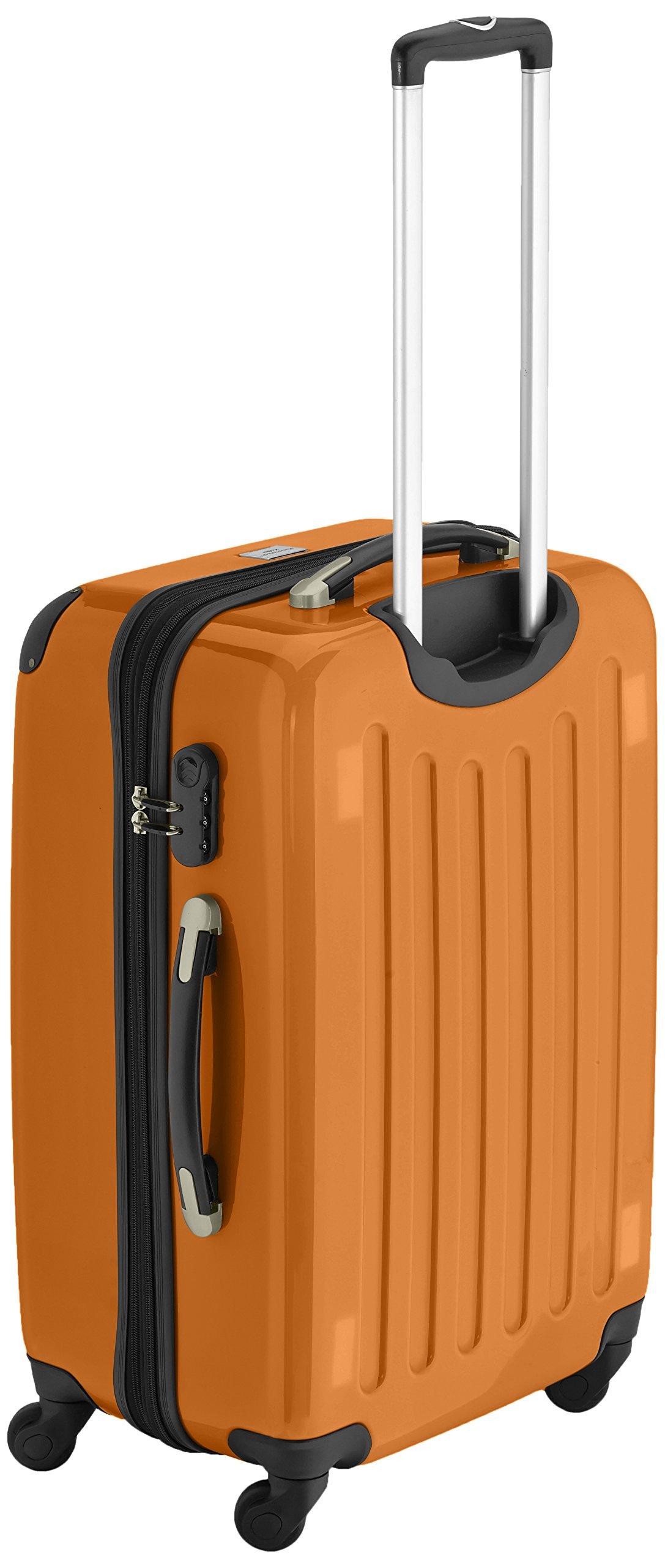 HAUPTSTADTKOFFER-Alex-2er-Koffer-Set-Hartschale-glnzend-65-cm-55-cm-74-Liter-42-Liter-Orange