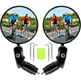 Rückspiegel Fahrrad - Fahrradrückspiegel Drehrückspiegel 2 Stück Fahrradspiegel 360°Drehbar Konvexspiegel für 17,4-22 mm Lenk