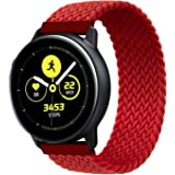 RIOROO Compatibel voor Samsung Galaxy Watch 3 riem, elastische nylon polsband voor vrouwen mannen sport band compatibel voor