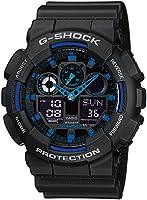 Casio G-Shock Analog-Digital Herrenarmbanduhr GA-100 blau schwarz, 20 BAR