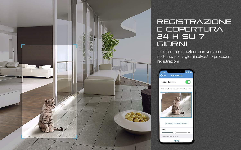 COOAU-Telecamera-IP-Camera-Esterno-1080P-Telecamera-Videosorveglianza-WIFI-con-Rilevazione-del-movimento-Vista-a-Distanza-via-Smart-PhoneTabletPC-Windows