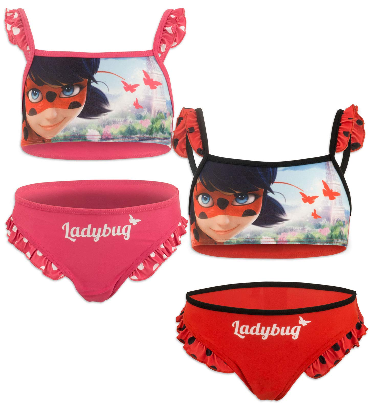 COSTUME MARE Piscina 2 pezzi Bikini MIRACULOUS LADYBUG s