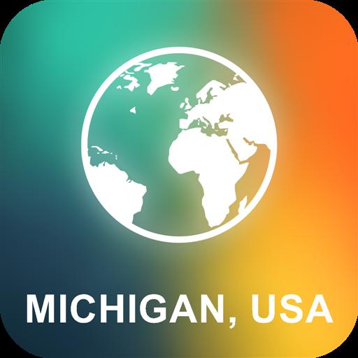 Michigan, USA Offline Karte (Karten Von Michigan)