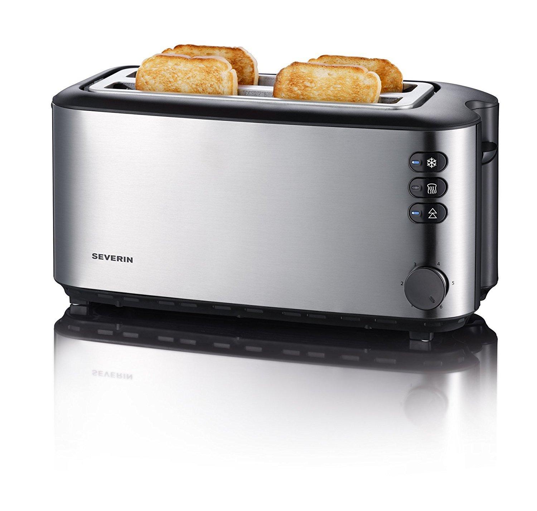 Severin-AT-2509-Automatik-Toaster-1400-Watt-bis-zu-4-Brotscheiben-Edelstahl-Zertifiziert-und-Generalberholt