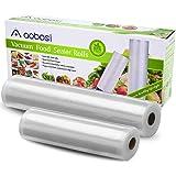 Aobosi Vacuümrollen Vacuümfolie rol voor alle folielassistenten, 2 rollen 28 x 600 cm & 20 x 600 cm Premium kwaliteit folieza
