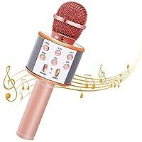 Bearbro Microfono Karaoke Bluetooth con Altoparlante,Portatile KTV Karaoke Player per Cantare, Funzione Eco, per Adulti…