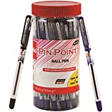 Cello Pinpoint Ballpen Jar (Pack of 25 pens in Blue and Black ink) | Lightweight ball pens for pressure free & fine…