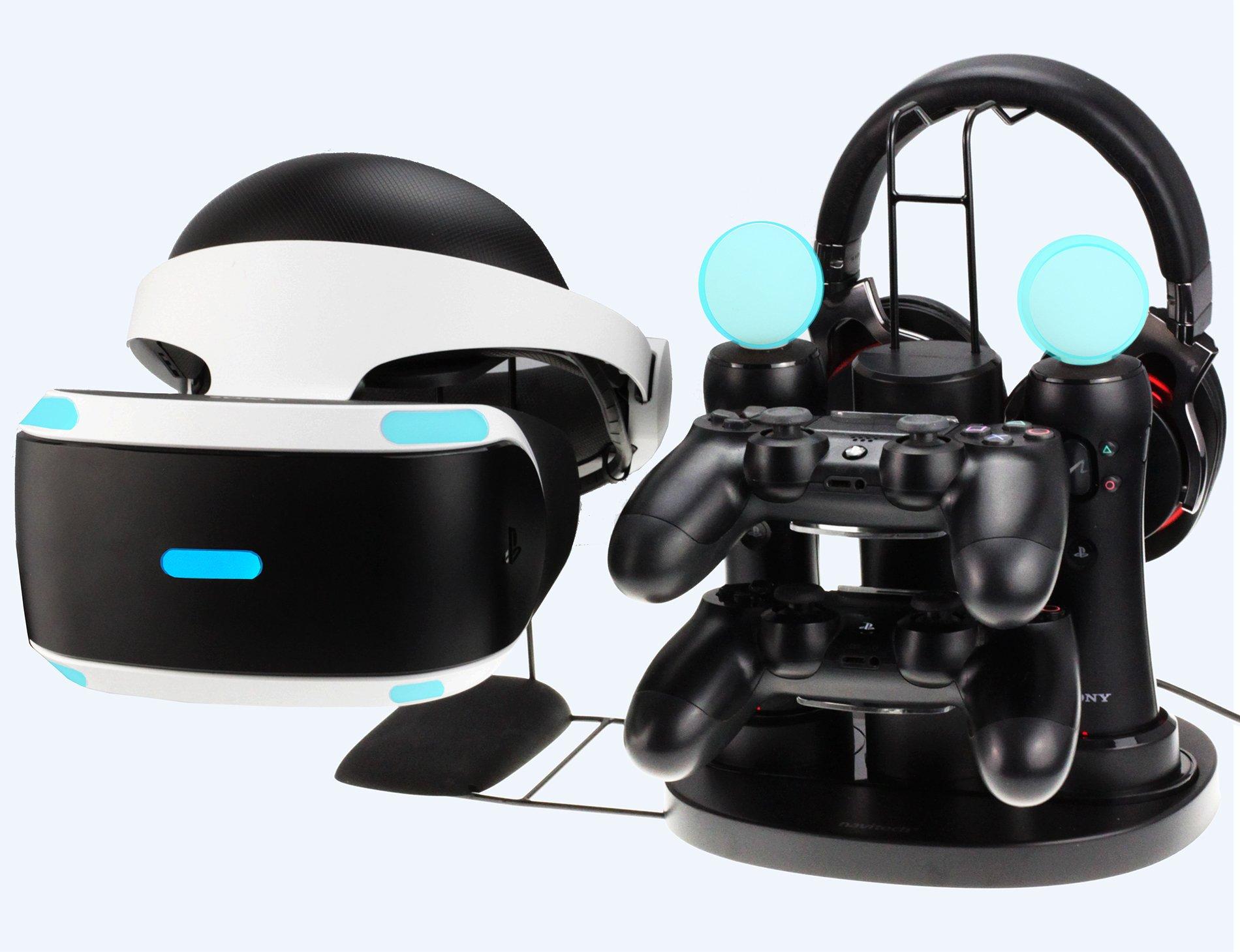 Navitech Station de recharge avec câble de chargement USB de 1,2m 5v 3A pour Sony PlayStation VR / PSVR / CUH-ZVR1/ CUH-ZVR2