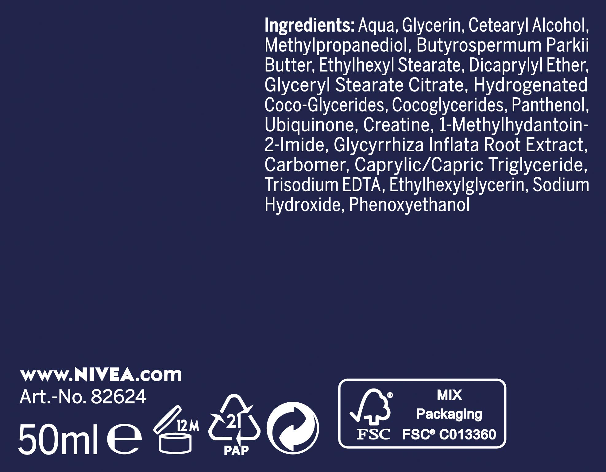 Nivea Q10Power anti-arrugas + Reducir sensibilidad de noche para rejuvenecedora Cuidado, feuchtigkeitsspendende Crema, 2unidades (2x 50ml)