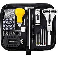 Baban Montre Kit, 156 Pcs Outil de Réparation Montre Kit D'horlogerie Kits de Réparation Watch Repair Tool pour Montre