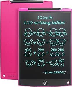 NEWYES NYWT120 Tavoletta LCD da Disegno con Stilo, 12 Pollici di Lenghezza, Vari Colori(Rosa)