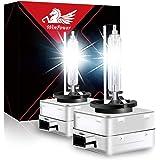 WinPower D1S Bi Xenon Brenner 35W HID Scheinwerfer Biren Entladungslampe Set 12V 6000K Diamond Weiß Mehr Licht Extreme Vision Headlight Lampe, 2 Stücke