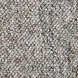 BODENMEISTER BM72181 Teppichboden Auslegware Meterware Schlinge grau weiß 200, 300, 400 und 500 cm breit, Verschiedene Längen, Variante, 3,5 x 4 m