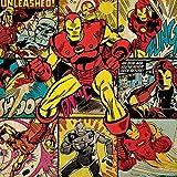 Marvel Comics Iron Man-quadri su tela, 40 x 40 cm, motivo: impronte, colore: multicolore
