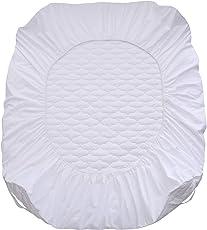 XBXB Wasserdicht Matratzenschoner Wasserundurchlässig Matratzenauflage Gummi Matratzenbezug Atmungsaktive Gesteppte Matratzenschutz-100% feine Feder Seide Baumwolle