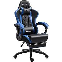 Dowinx Gaming Stuhl Ergonomischer Büro Lehnstuhl für PC mit Massage Lordosenstütze, Racing Stil Sessel PU-Leder-E-Sport…