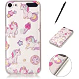HanCda Case for iPod Touch 5th / 6th Generation, Soft Silicone Gel TPU Transparent Thin Slim Clear with Design Lovely…