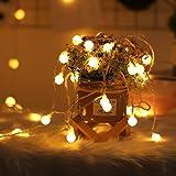 Catena Luminosa, Dating Girl 10M 100 Led Luci Decorative Impermeabile Con 8 Modalità Flash, Catena di Lampadina per Camere da
