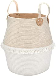 La Jolíe Muse Aufbewahrungskorb Wäschekorb aus Baumwolle Seil - Groß und Stabile Für Wohnzimmer Kinderzimmer Badzimmer