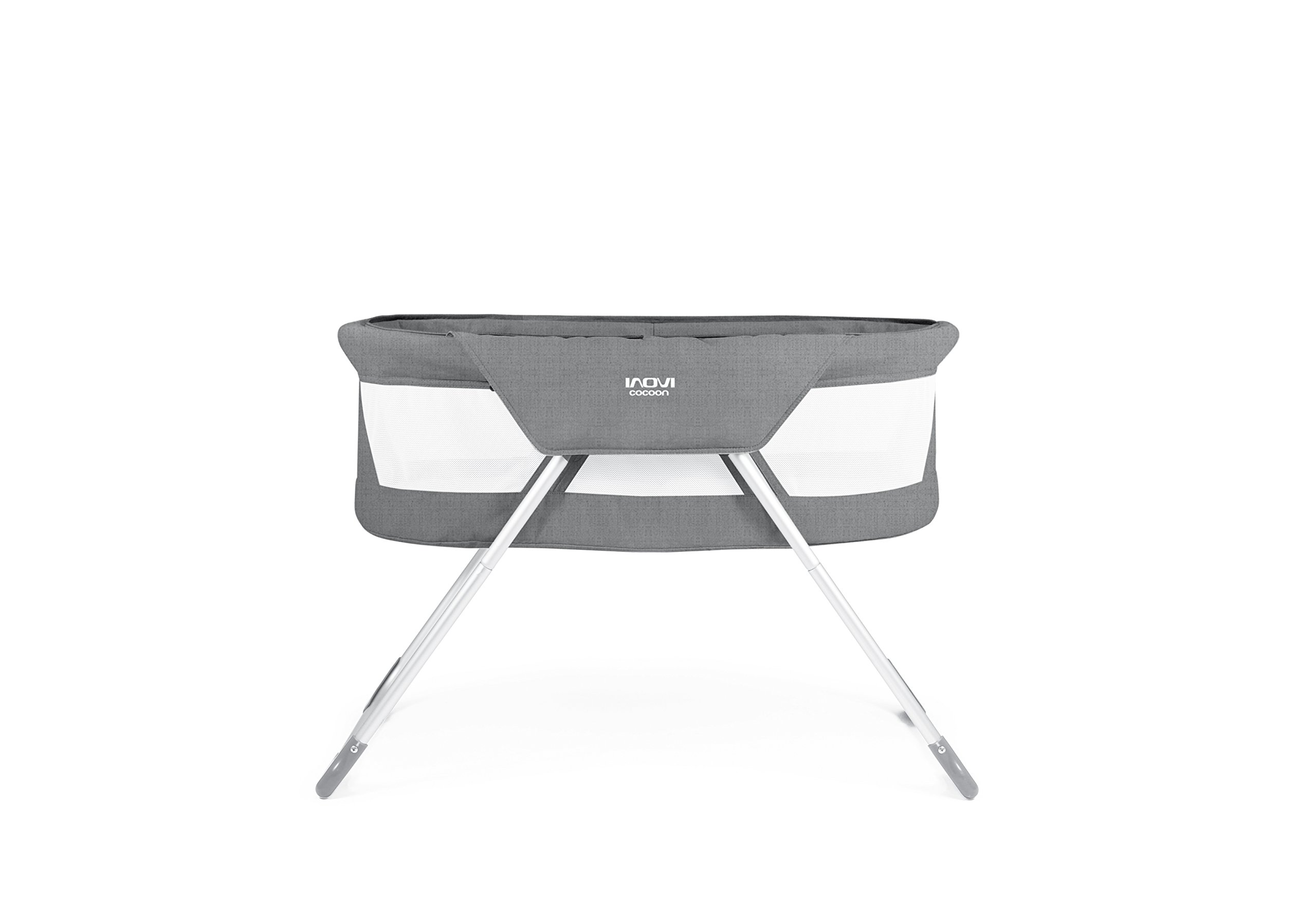 Inovi Cocoon Folding Moses Crib Travel Cot Grey Inovi Compact and lightweight for use at home or when travelling The Inovi Cocoon provides a safe andsecure sleeping environment for your baby. Suitable from birth up to approx. 6 months old 3