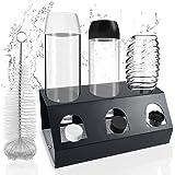 GUSUWU SodaStream Porte-bouteilles en acier inoxydable pour bouteilles Crystal et Emil,Le porte-bouteille est en acier inoxyd