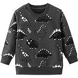 Niño Sudadera Casual Otoño Cuello Redondo Jersey Manga Larga algodón Larga Camiseta Camiseta Superior (1 a 7 años