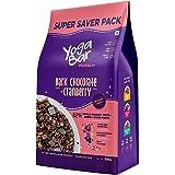 Yogabar Wholegrain Breakfast Muesli - Dark Chocolate and Cranberry, 700g (Super Saver Pack)