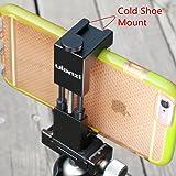 Metall Telefon Stativhalterung mit Hot Shoe Mount-Ulanzi Smartphone Halter Video Rig Stativ Mount Adapter - Schwarz
