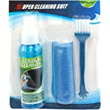 Storite 3 in 1 Screen Cleaning Kit with Microfiber Cloth and Brush for Electronic Screens (100 ml)