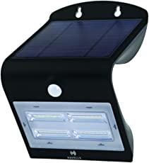 Havells Solazen 3.2-Watt Rechargeable Solar PIR Motion Sensor LED Light (Black)