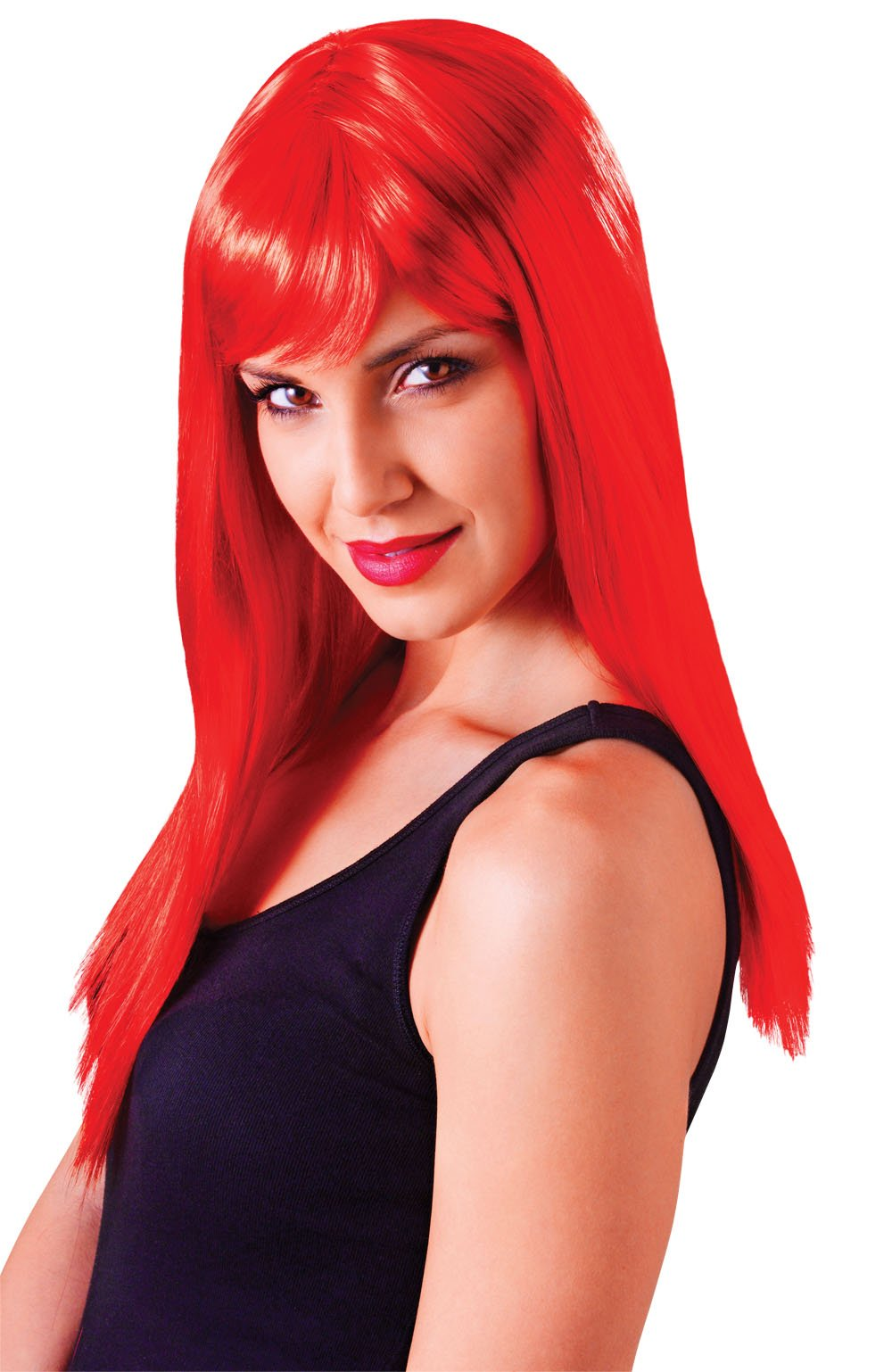 Passion Long, Red Wig, Fancy Dress, Accessory