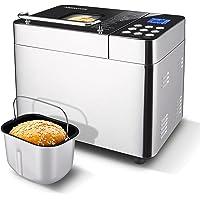 Nictemaw Machine à pain Backmeister avec 25 programmes pour un poids de pain de 500 g à 1000 g