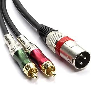 Siyear alta qualit/à XLR femmina a 2/x Phono RCA adattatore sdoppiatore cavo patch connettore XLR femmina 3/pin a doppio RCA maschio cavo audio stereo 1.5/m//1,5/m
