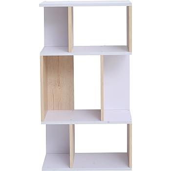 mobili rebecca unit biblioth que rayonnage 4 tag res bois claire design contemporain salle de. Black Bedroom Furniture Sets. Home Design Ideas