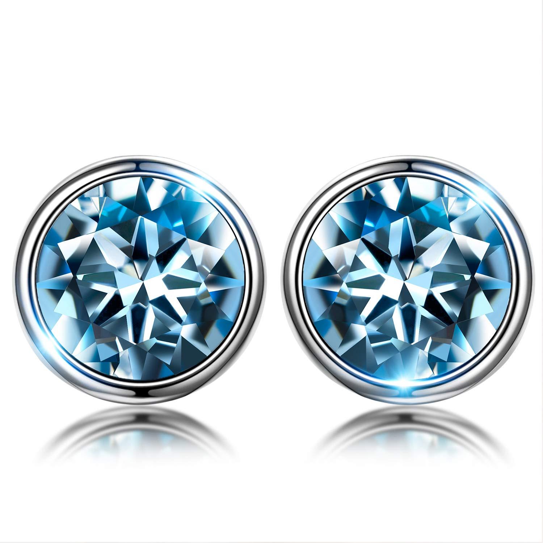 Susan Y Pulsera Mujer con Azul Cristales de Swarovski Regalos, Viene con Caja de Regalo, Sin Níquel, Regalos Día de la Madre