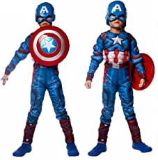 Fancydresswale Captain America Muscle Costume + Shield