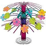 amscan 240093 Mini Hawaiian Hibiskus Folie Cascade Centrepiece - 1 st, flerfärgad, 1 styck