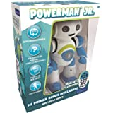 LEXIBOOK Robot Inteligente Powerman Junior Educativo e Interactivo, Lee la Mente, Baila, Toca Musica, Repite Las Frases, Mand