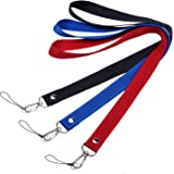 Bande, lanière, sangle de cou Wisdompro® Premium 48,3cm en nylon avec crochet en J & Anneau fendu pour carte d'identité/badg
