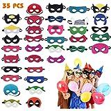 Máscaras de Superhéroe, Máscaras para Niños y Adultos, Máscaras de Cosplay de Superhéroe, Cuerda Elástica Máscaras de Ojos, S