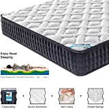 HomyLink 4FT6 Double Mattress Pocket Sprung Memory Foam 9-Zone Orthopaedic 23.5cm Height 3D Breathable Knitting Fabric