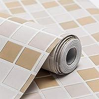 Wolpin Wall Stickers Wallpaper (45 x 500 cm) Waterproof Bathroom, Kitchen Tiles Pattern, Stove Backsplash, Countertop…