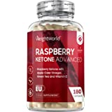 Raspberry Ketone Advanced - 1600mg Equivalent - 180 Capsules (3 Months Supply) - Strong Diet Capsules with Apple Cider Vinega