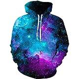 ALISISTER Mens 3D Hoodies Funny Digital Print Hooded Pullover Sweatshirt With Fleece Plush S-XXL
