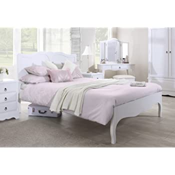 Romance White King Bed 5ft, Stunning French bed frame, Quality king ...
