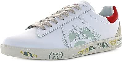 PREMIATA Scarpe Sneakers Uomo Andy 5144 Pelle Bianca