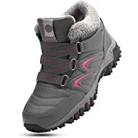 Camfosy Chaussures de Randonnée Hiver Femme, Bottes de Neige Imperméable Après Ski Baskets Fourrure en Suède Bottines…